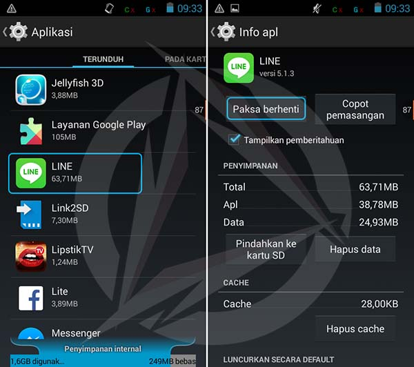 Disable Aplikasi Android