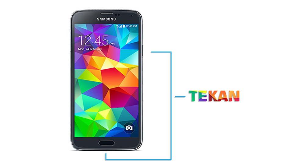 Cara Mengambil Screenshot Layar Galaxy S5