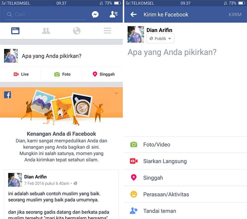 Membuat Status Warna Warni di Facebook 1