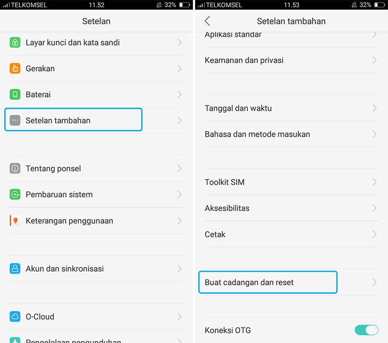 Reset OPPO A37