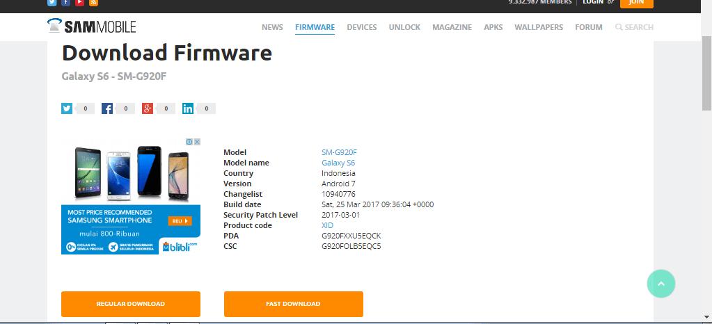 Download Firmware Samsung