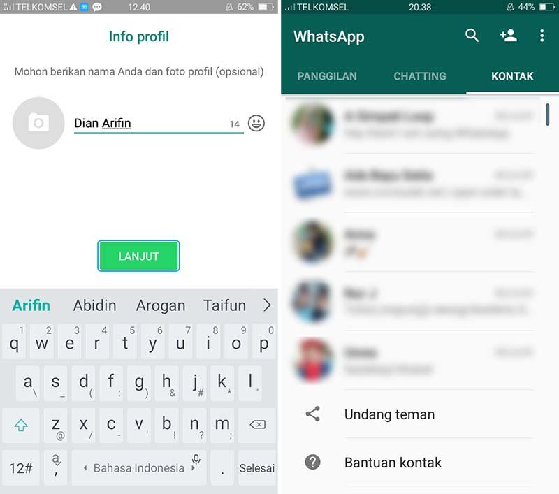 Daftar Aplikasi WhatsApp