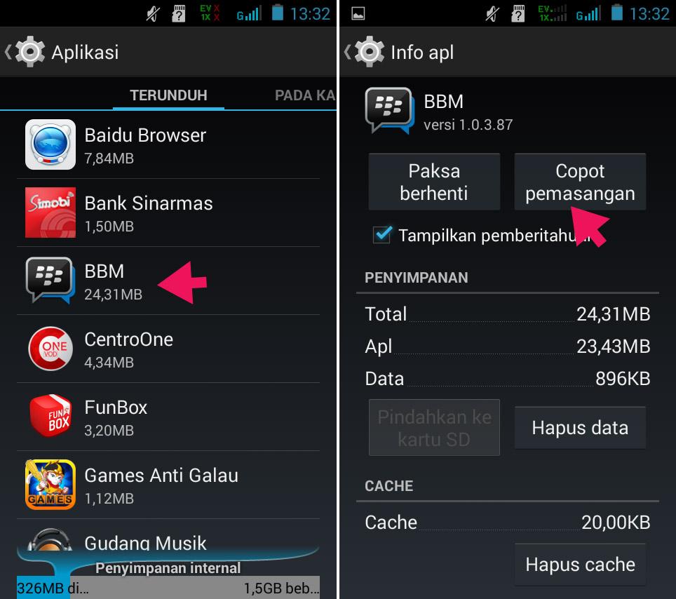 Uninstall Aplikasi di Smartfren Andromax G2 AD681H