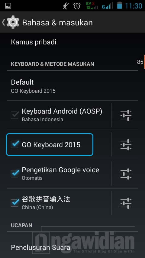 Cara Mengganti Keyboard Android 2