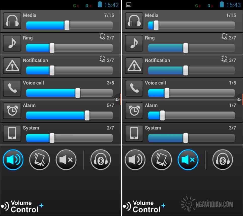 Mengatur Suara Android Dengan Volume Control+ 2