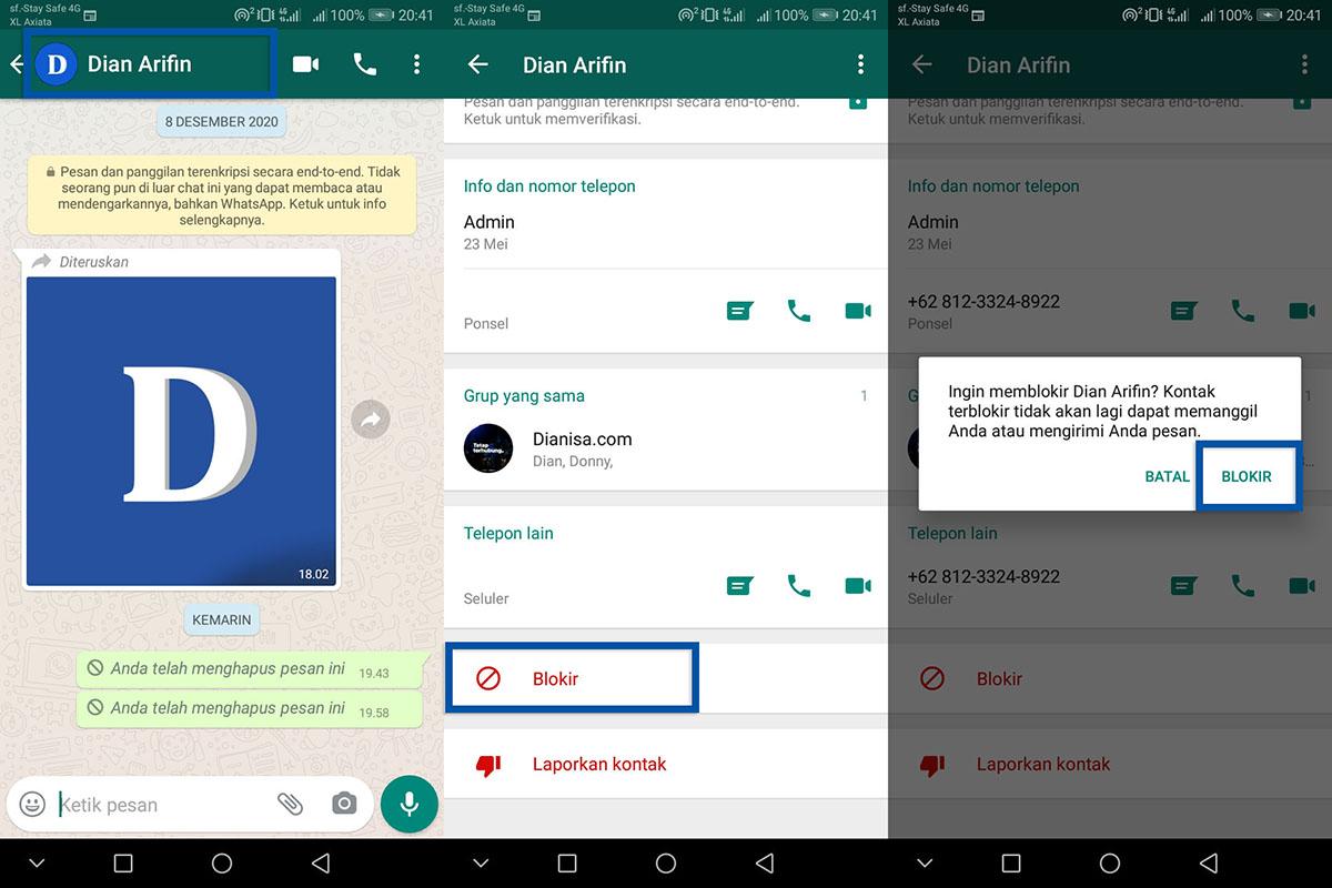 1 Cara Blokir Kontak WhatsApp