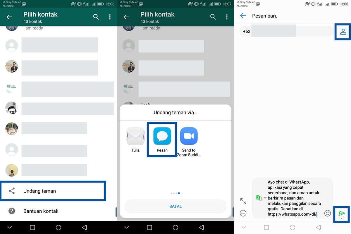1 Mengundang kontak baru WhatsApp