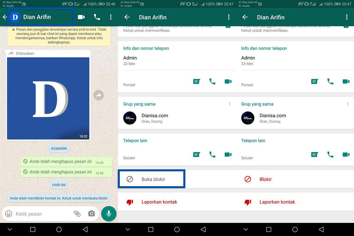 2 Cara Membuka Blokir Kontak WhatsApp
