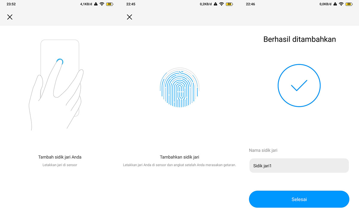 Aktifkan sensor Fingerprint Android