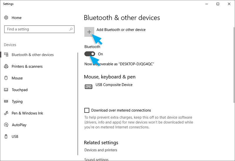 Aktifkan Bluetooth Laptop