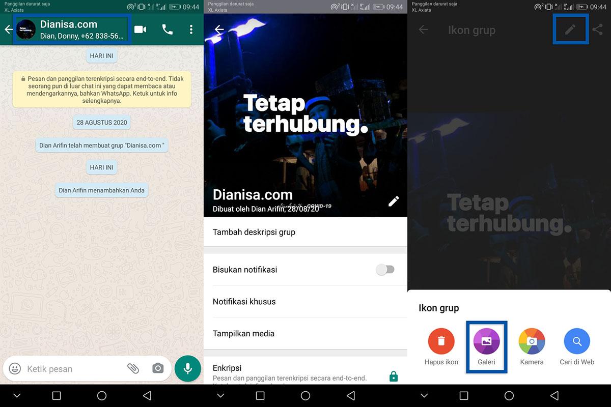 2 Mengganti foto profil grup WhatsApp