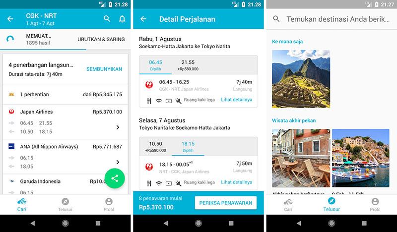 10 Aplikasi Pesan Booking Tiket Pesawat Android Ios Terbaik