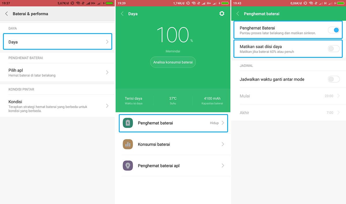 Aktifkan Fitur Penghemat Baterai Xiaomi