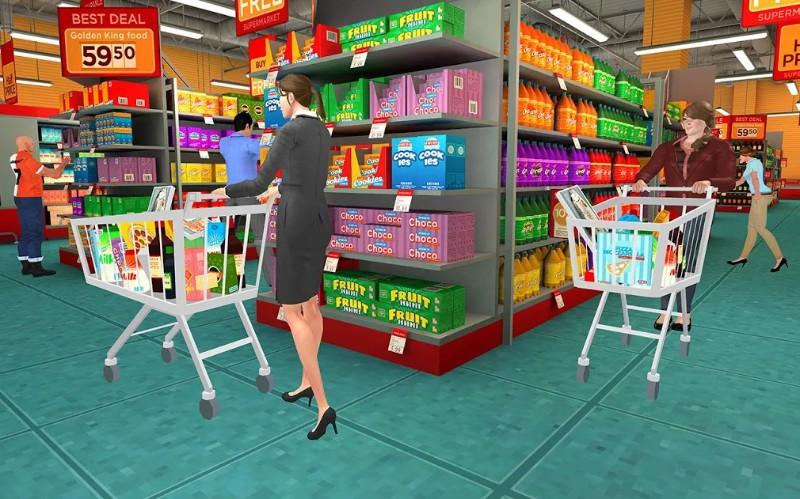 Supermarket Simulator Mesin ATM Shopping Mall