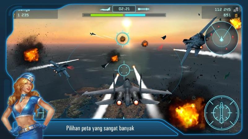 Battle of Warplanes Simulator penerbangan pesawat