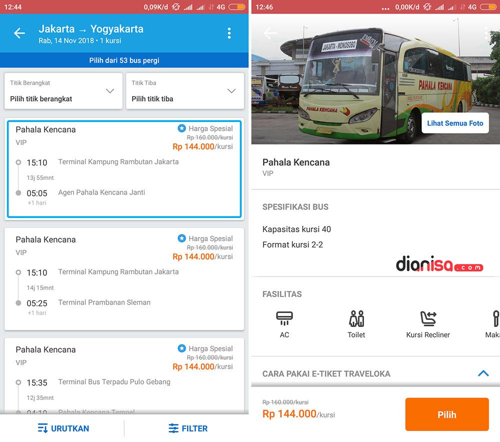 Bus Jakarta - Yogyakarta - Traveloka 3