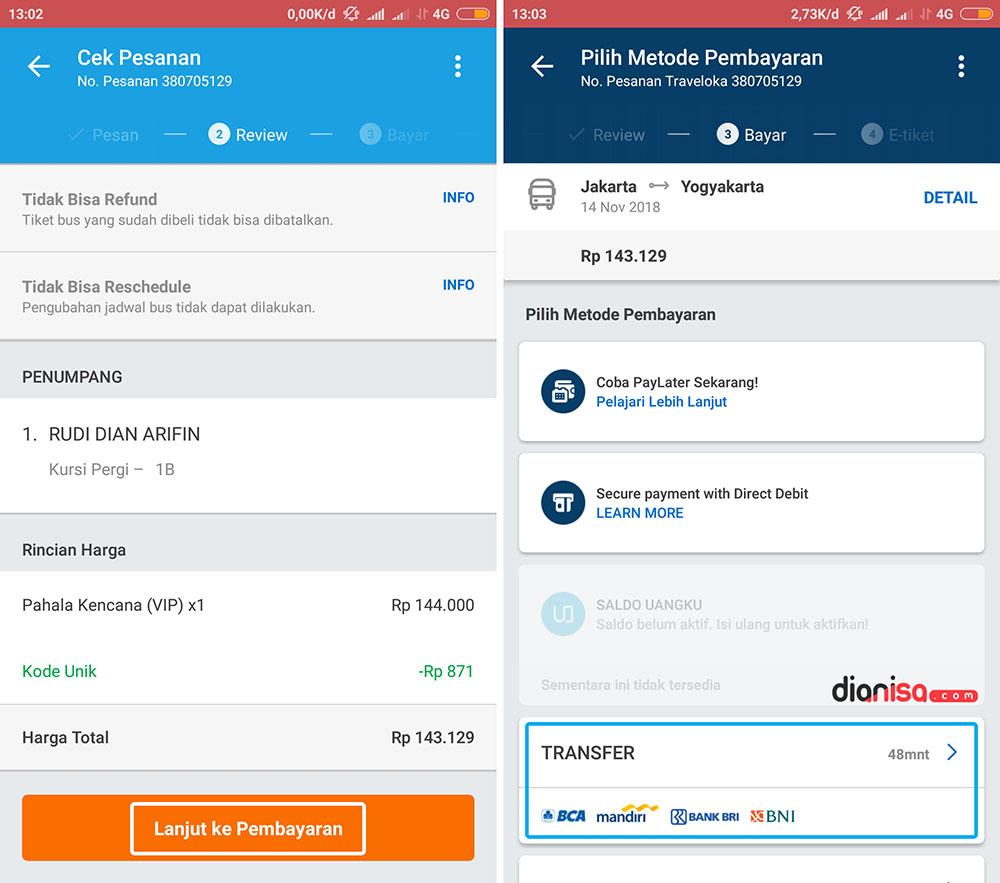 Transfer Pembayaran Tiket - Traveloka 6