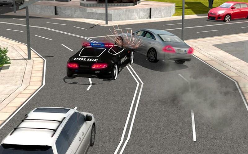 polisi mengejar pembalap kriminal