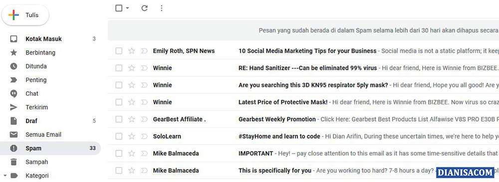 4. Teknologi Spam Gmail