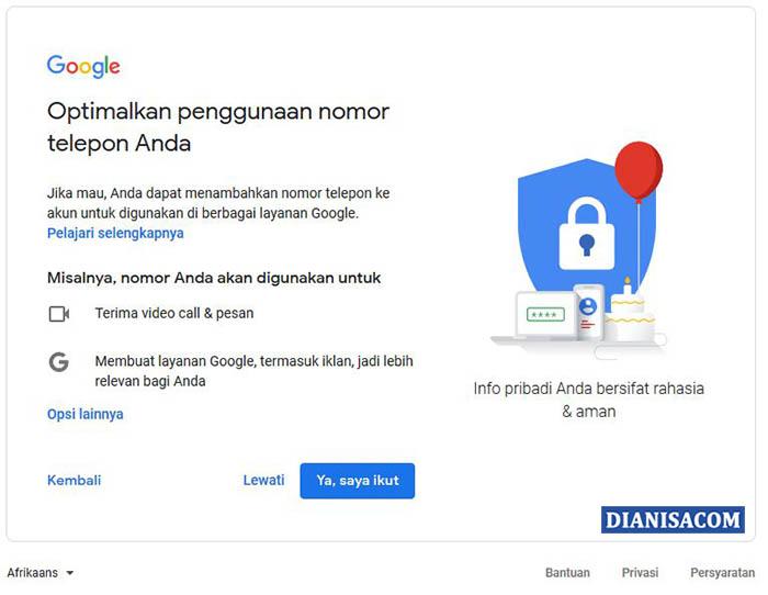 5. Cara Daftar Akun Gmail di Laptop