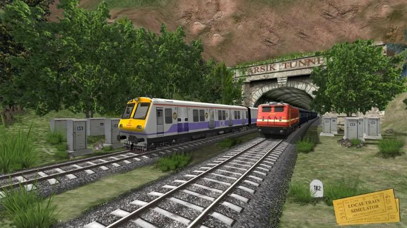 Simulator Kereta Lokal India