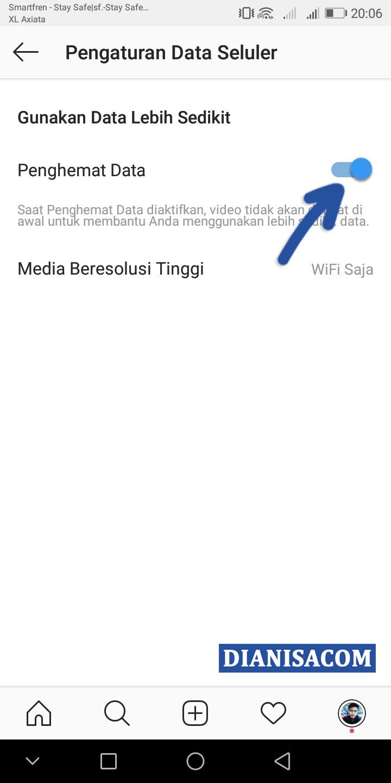 4 Aktifkan Fitur Penghemat Data Instagram