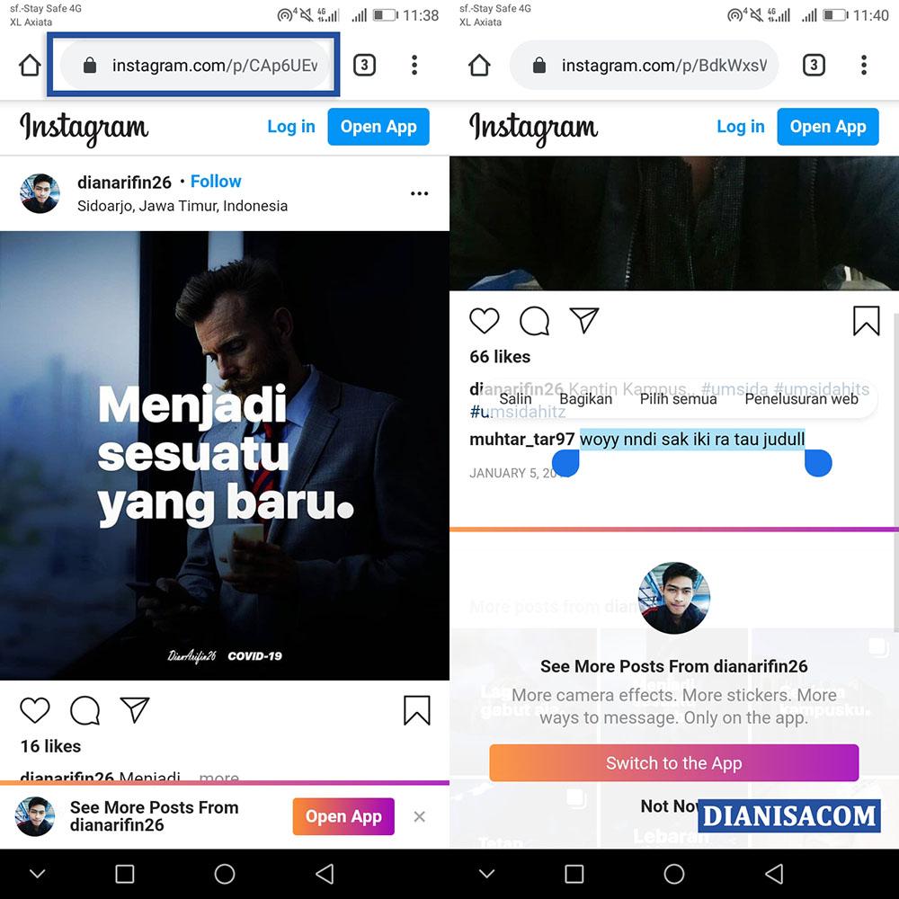 Copy Komentar Instagram