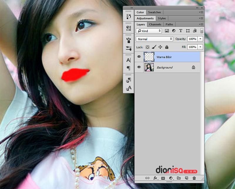Mengubah Warna Bibir Photoshop 2