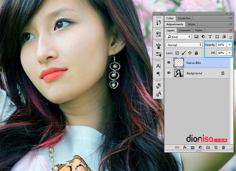 Merubah Warna Bibir Photoshop 3