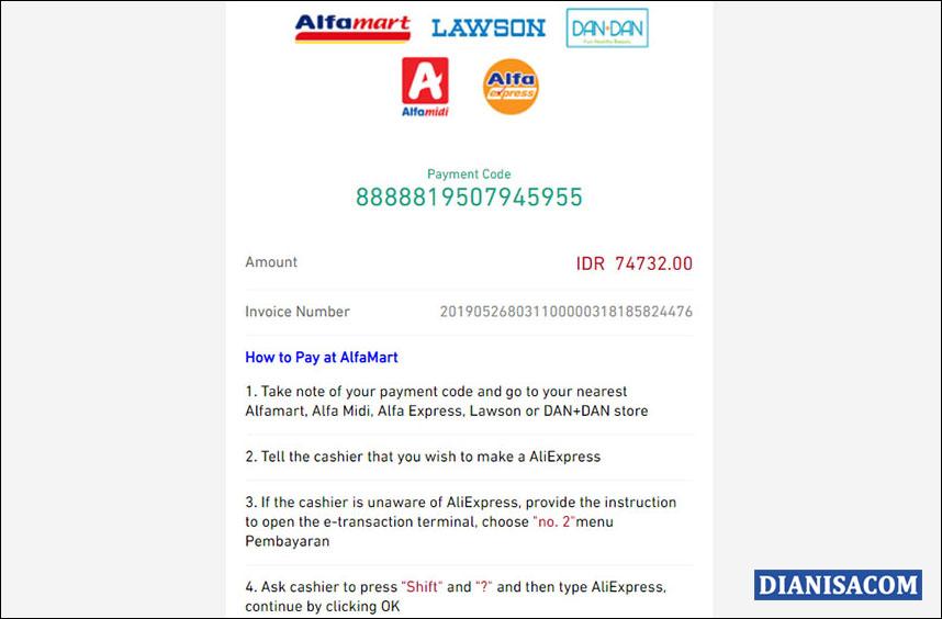 13 Code Pembayaran AliExpress