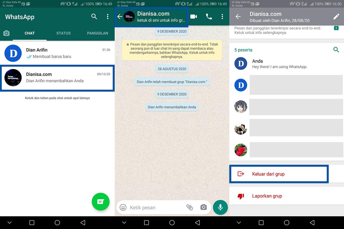 3 Keluar dari Grup WhatsApp