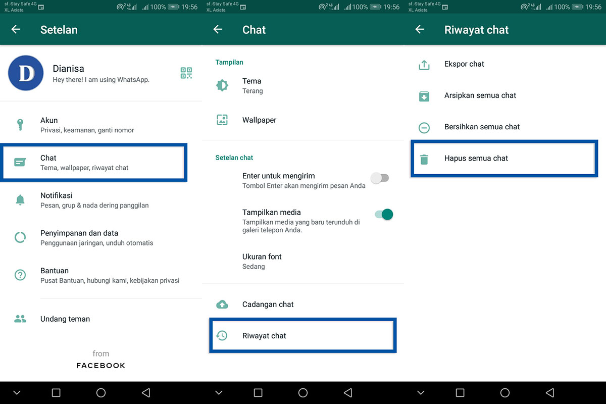 3 Membersihkan Semua Pesan WhatsApp