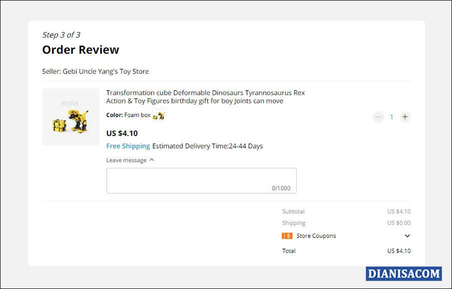 9 Order Review di AliExpress