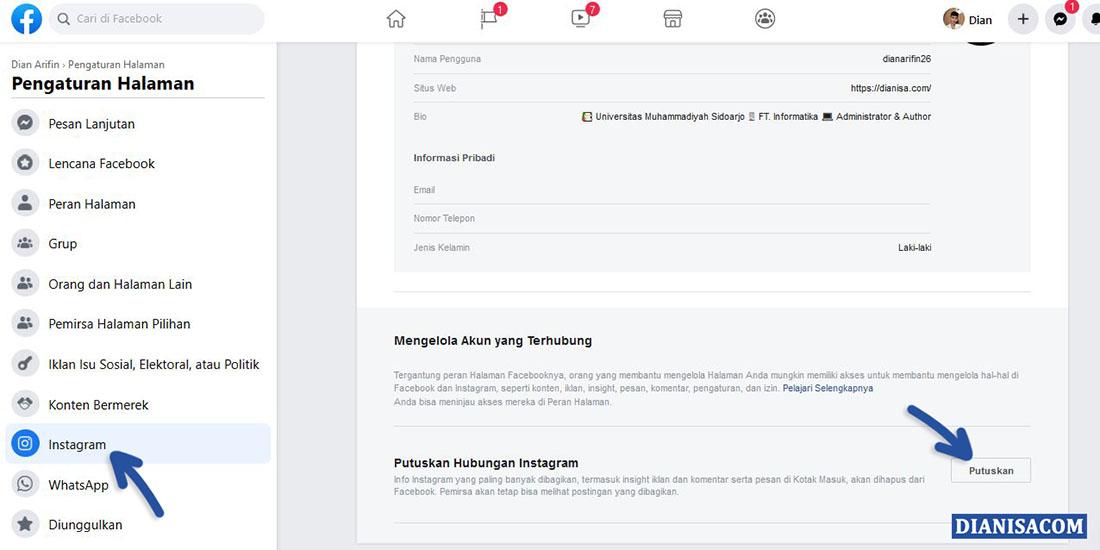 2 Pilih Instagram di Facebook