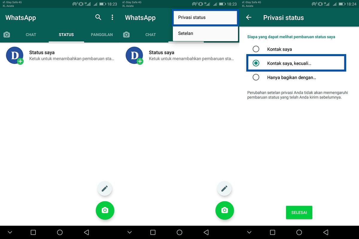 Cek Privasi Status WhatsApp