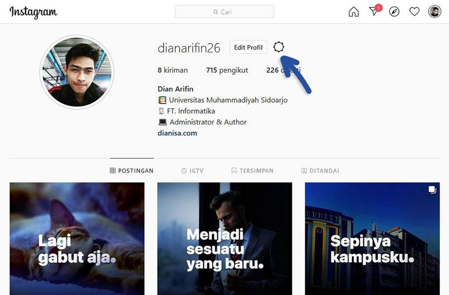 1 Pengaturan Instagram