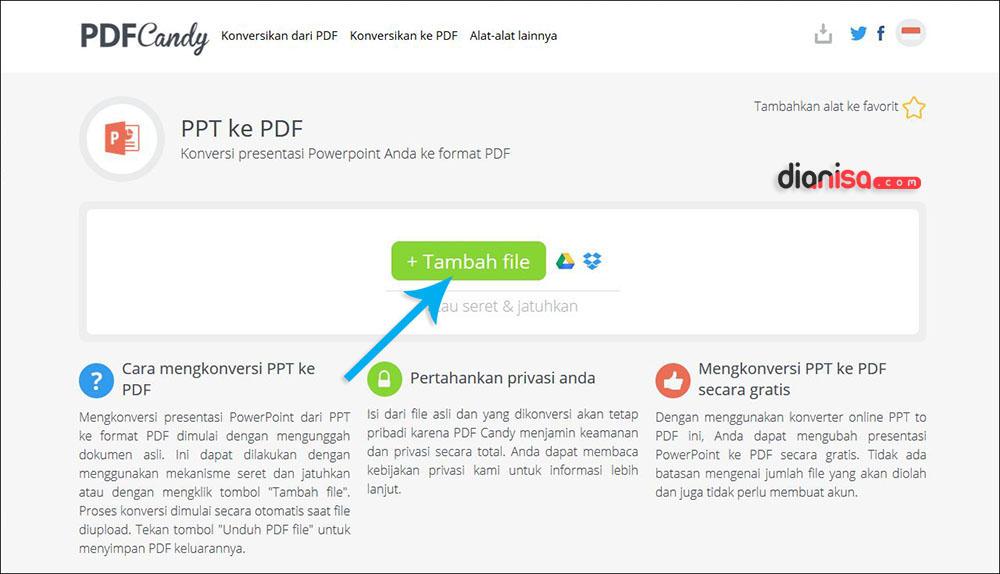 Convert PPT ke PDF PDFCandy