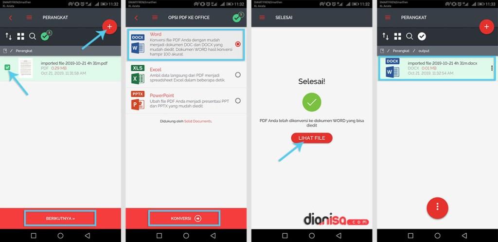 Mengubah File PDF ke Word Android