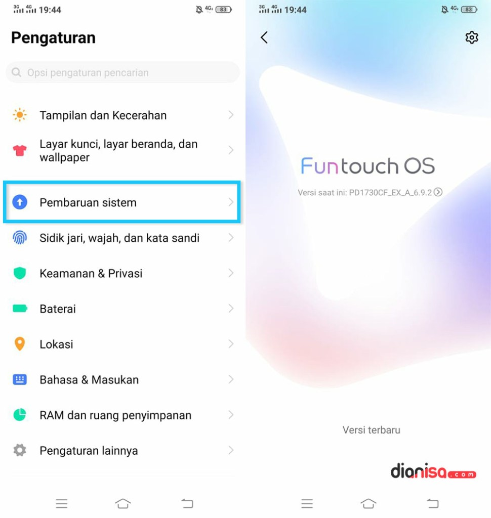 Update Funtouch OS VIVO