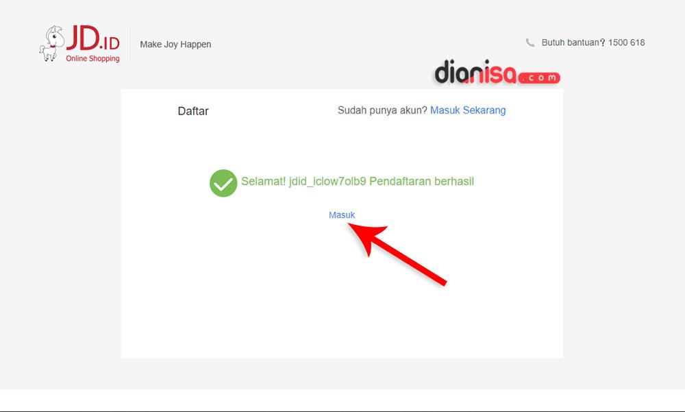 3. Cara Daftar Member JD.ID