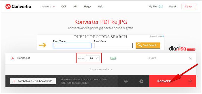 PDF ke JPG - Convertio