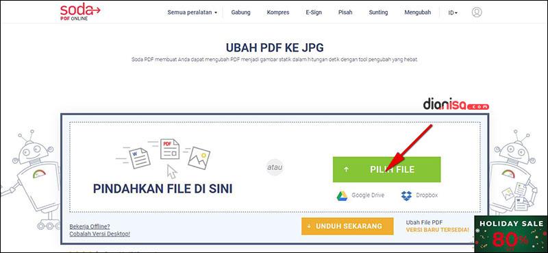 PDF ke JPG - SodaPDF