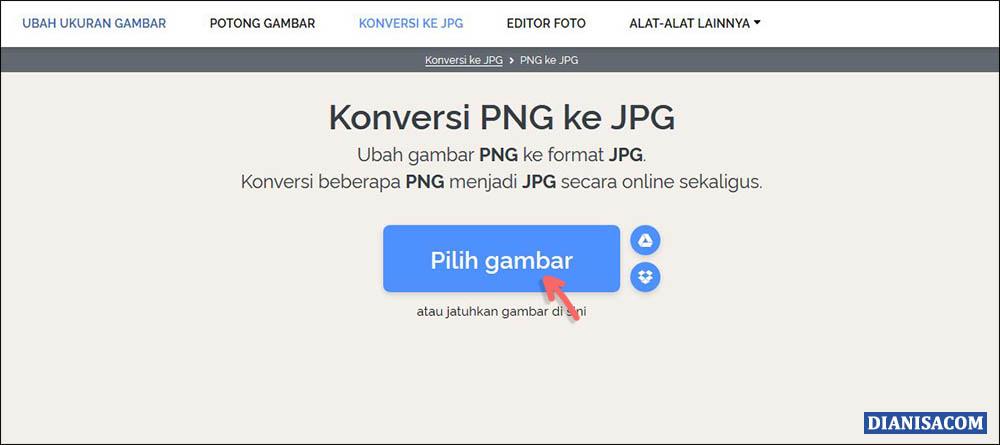 Konversi PNG ke JPG Online