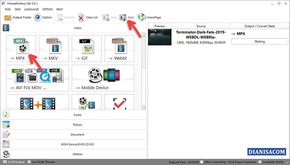 Cara Mengubah AVI ke MP4 di Laptop