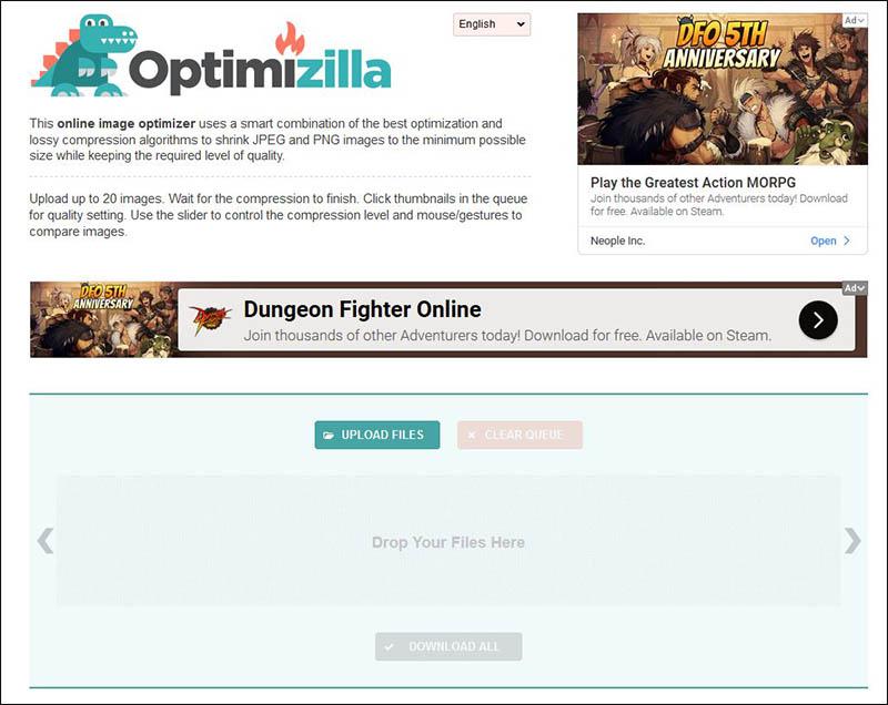 Optimizilla Image Compressor