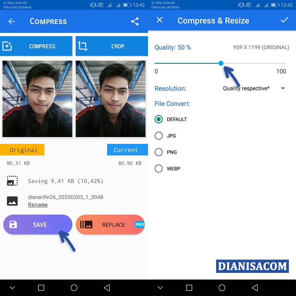 2 Kompres File JPG Android