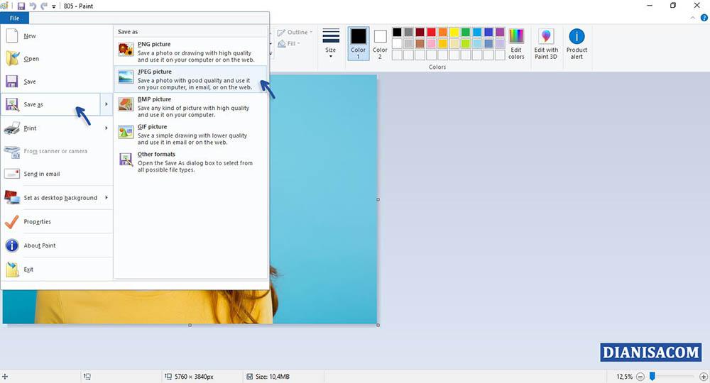 3 Mengecilkan Ukuran File Foto di Komputer