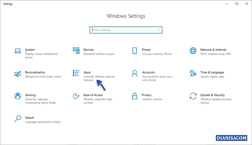 1 Settings Apps Windows