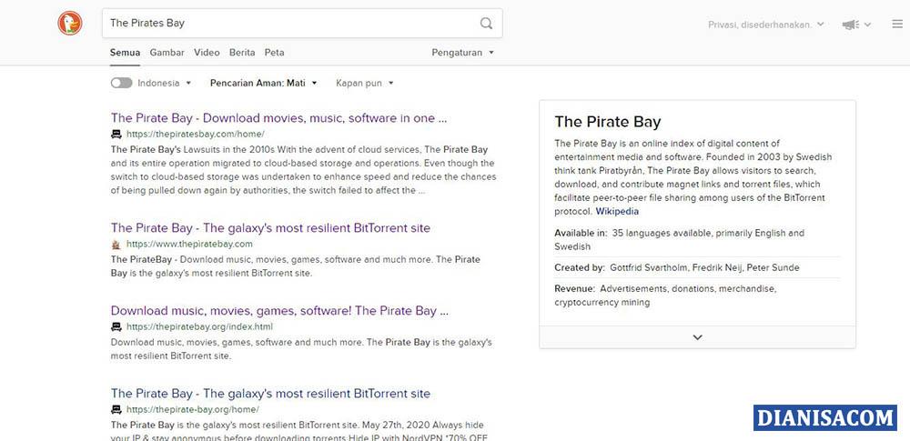 2 Pencarian Situs Torrent via Duckduckgo
