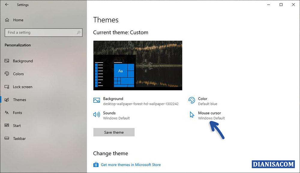 2 Memilih Fitur Mouse Cursor Windows 10